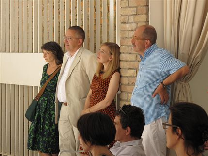 From left to right: Kaschka Knapkiewicz, Quintus Miller, Paola Maranta and Axel Fickert.